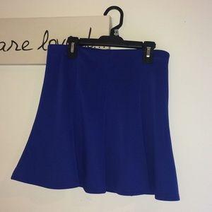 Forever 21 Royal Blue Pleated Skirt